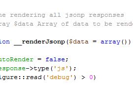 CakePHP JSONP-Rendering Screenshot